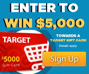 Win a $5,000 Target Gift Card